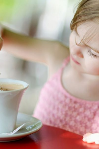 kids drinking coffee