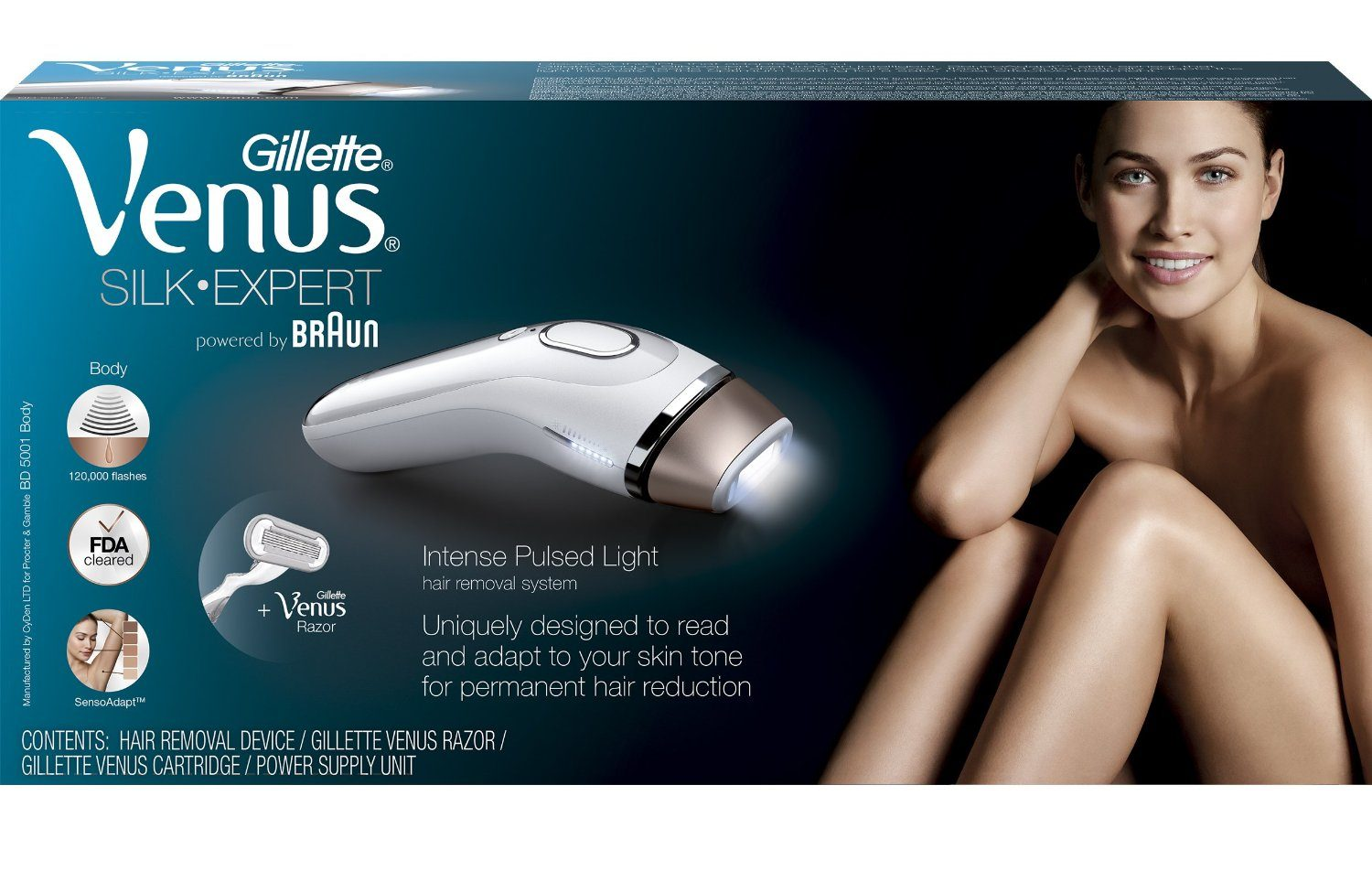 Using The Gillette Venus Silk Expert Ipl Hair Removal Device The