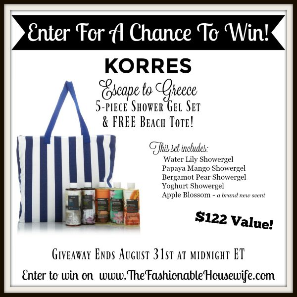 Korres Escape to Greece 5-piece Shower Gel Set & Beach Tote GIVEAWAY!