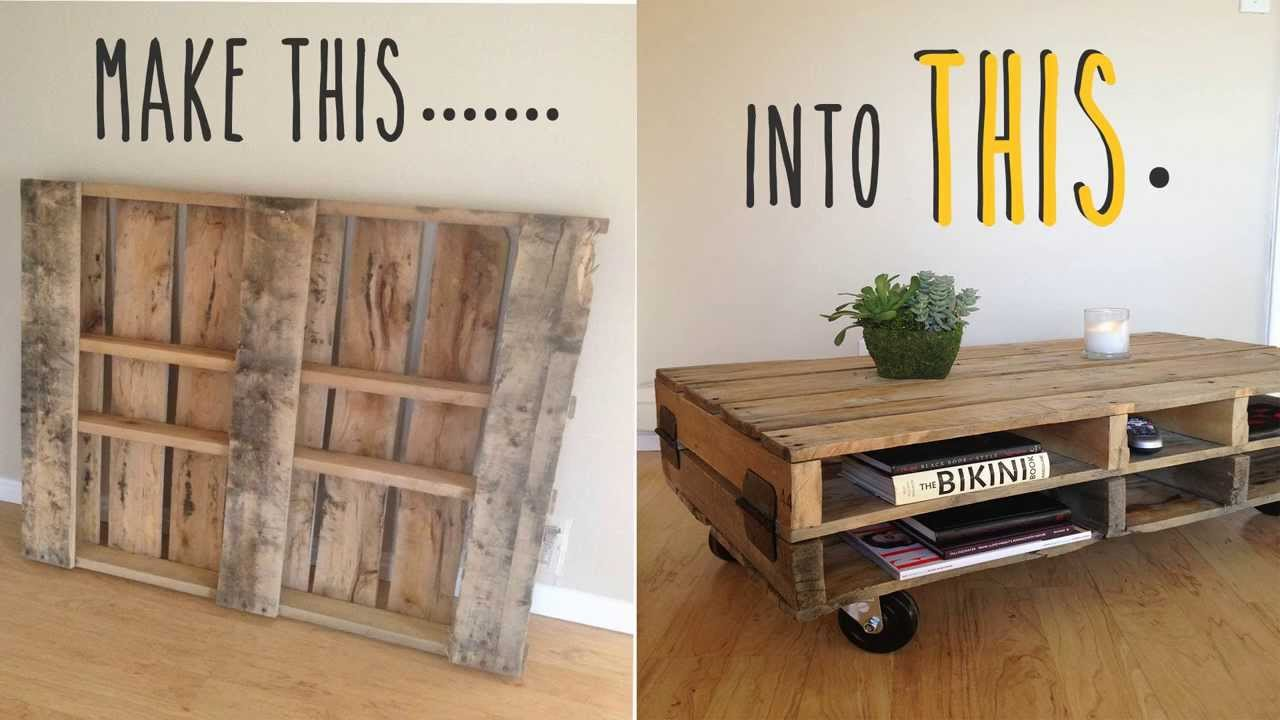 diy coffee table pallet