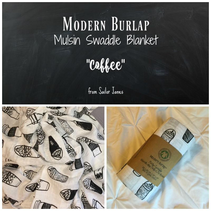 modern burlap swaddle blanket coffee