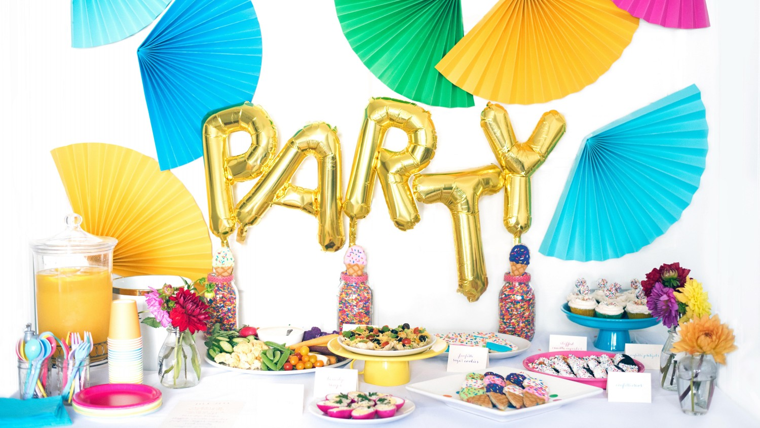 Tips for designing a kid approved adult friendly party for Adult party decoration
