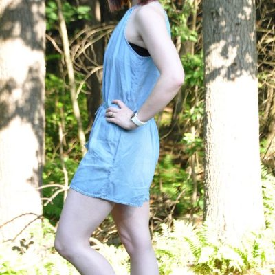Today's Outfit: Throwback To August's Denim Romper
