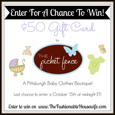 Giveaway with The Picket Fence: Pittsburgh Baby Clothes Boutique