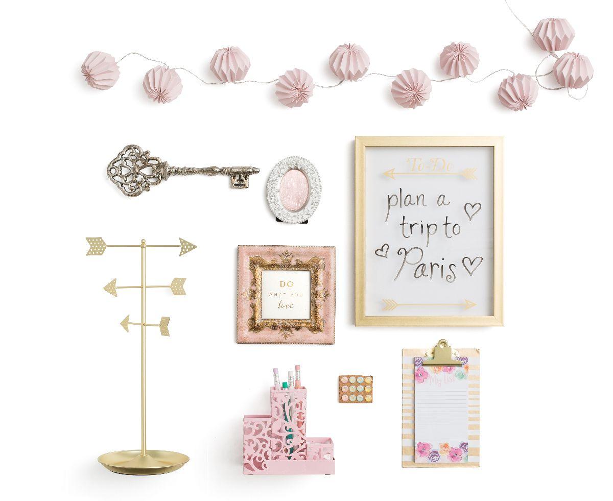 Desk makeover ideas from organizational expert alejandra for Tj maxx jewelry box