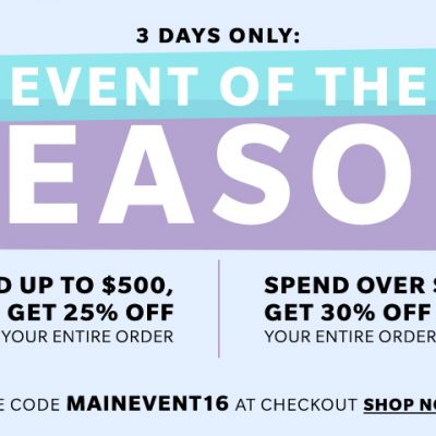 SHOPBOP 3 Day Sale Event of The Season!
