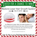 Enter To Win iRestore Laser Hair Growth System worth $695! #12DaysofChristmasGiveaways