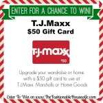 Enter To Win a $50 Gift Card for T.J.Maxx Marshalls HomeGoods! #12DaysofChristmasGiveaways