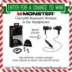 Enter To Win Monster ClarityHD Bluetooth Headphones worth $79.95! #12DaysofChristmasGiveaways