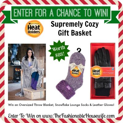 Enter To Win Heat Holders Supremely Cozy Gift Basket worth $88! #12DaysofChristmasGiveaways