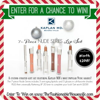 Enter To Win 7-piece Nude Lip Set from Kaplan MD worth $208! #12DaysofChristmasGiveaways