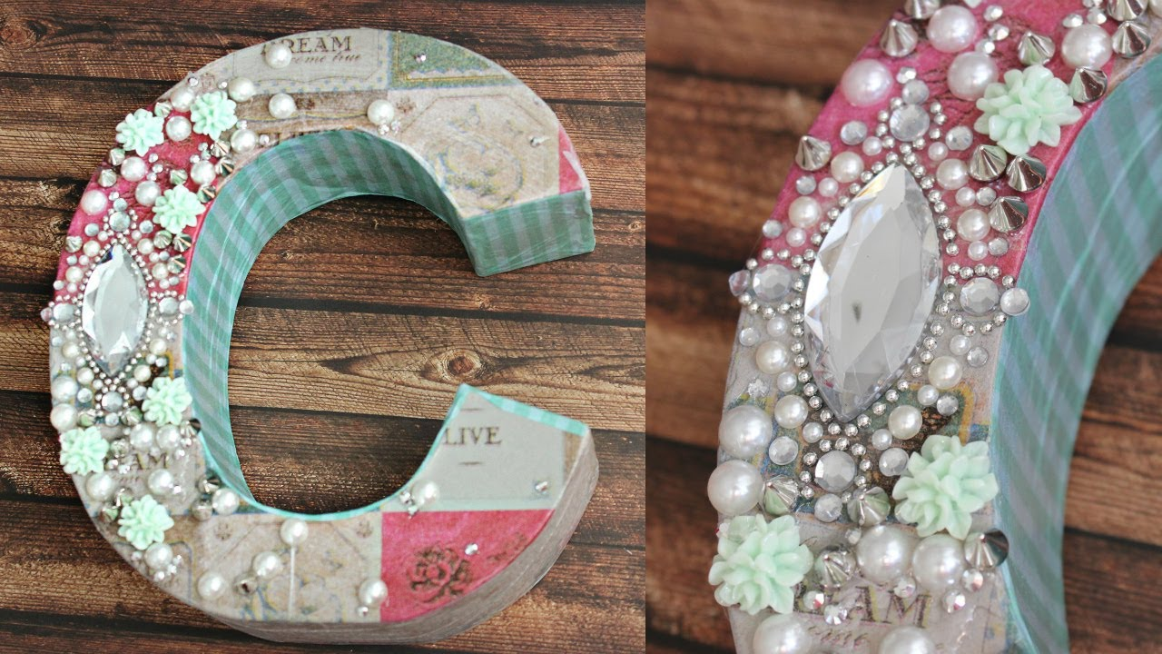 DIY amp Crafts Make Your Own Decoupage Monogram The