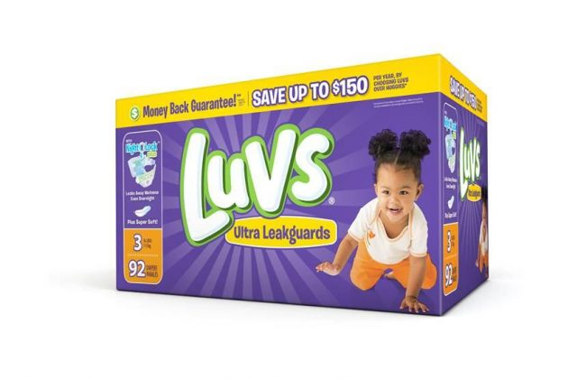 Big Savings on Luvs Disposable Diapers with $2 off Coupon!
