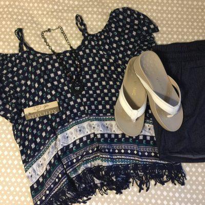 Today's Outfit: Stitchfix & Vionic High Tide Sandals