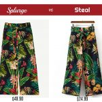 Splurge vs Steal – Tropical Print Pants