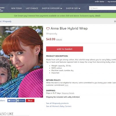 Oh my goodness, ya'll, I'm on Zulily!!!