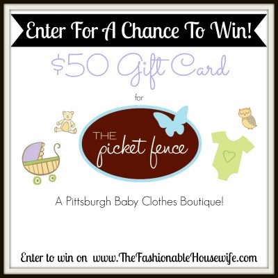 $50 Gift Card Giveaway for The Picket Fence Baby Store