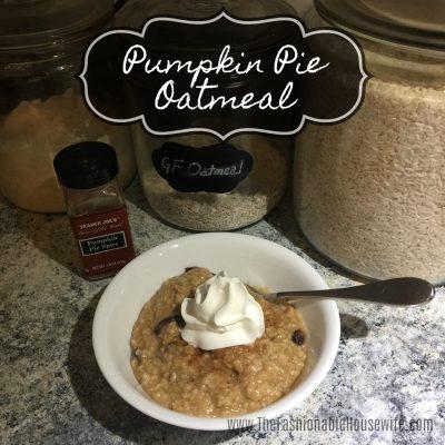 Quick & Easy Recipe for Pumpkin Pie Oatmeal