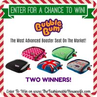 Enter To Win a BubbleBum Booster Seat for Kids! TWO Winners!