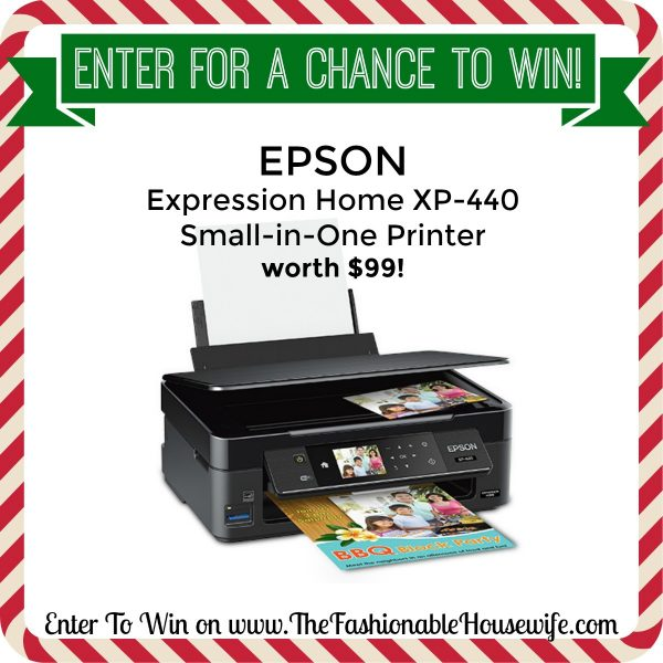 Enter To Win Epson Expression Home XP-440 Small-in-One Printer!