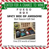 Enter To Win a Fuego Box of Awesome Hot Sauce Gift Set worth $55!