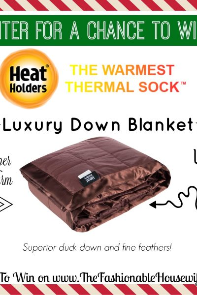 Enter To Win a Heat Holders Luxury Down Blanket worth $99!