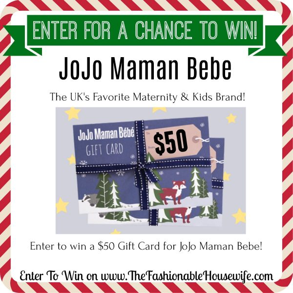 Enter To Win a $50 Gift Card for JoJo Maman Bebe!