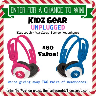 Enter To Win Kidz Gear Unplugged Bluetooth Wireless Headphones