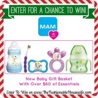 Enter To Win a MAM New Baby Gift Basket worth $60!