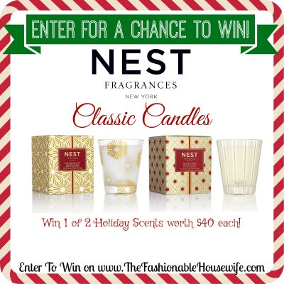 Enter To Win 1 of 2 NEST Fragrances Candles in New Holiday Scents!