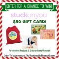 Stuck On You Gift Card Giveaway