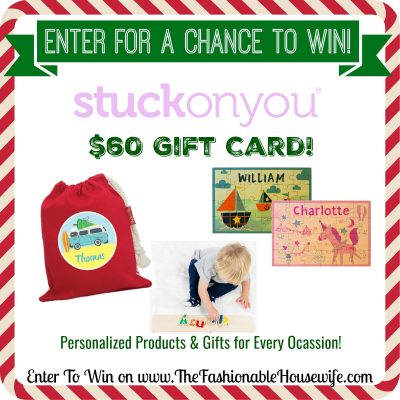 Enter To Win $60 Gift Card for Stuck On You Personalized Products