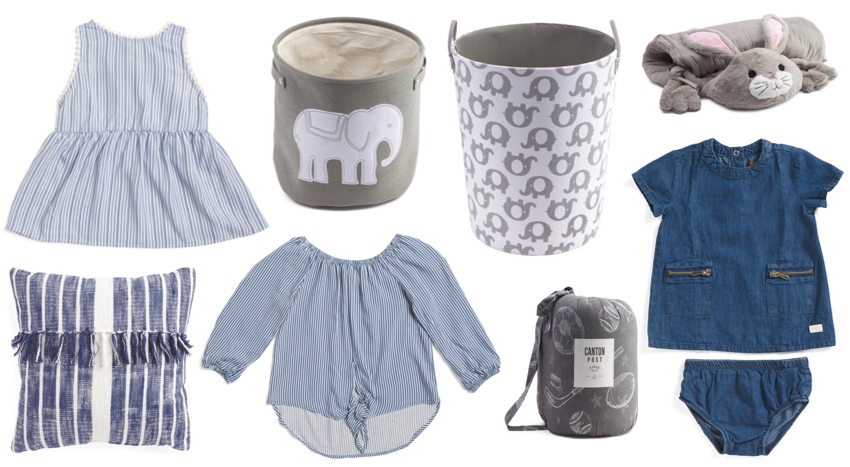 blue baby clothes