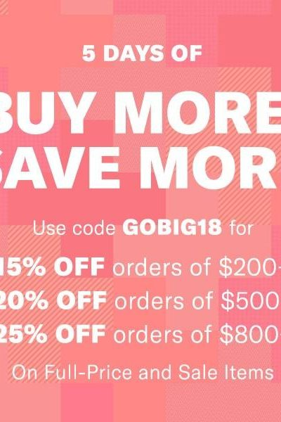 Shopbop Buy More, Save More Event ENDS TODAY!