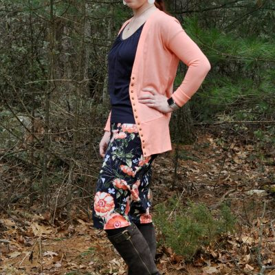 Today's Outfit: Spring Layering & A Floral Skirt