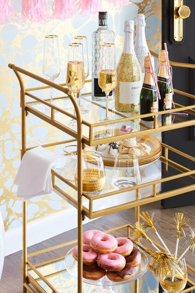 How to style a bar cart like a pro!