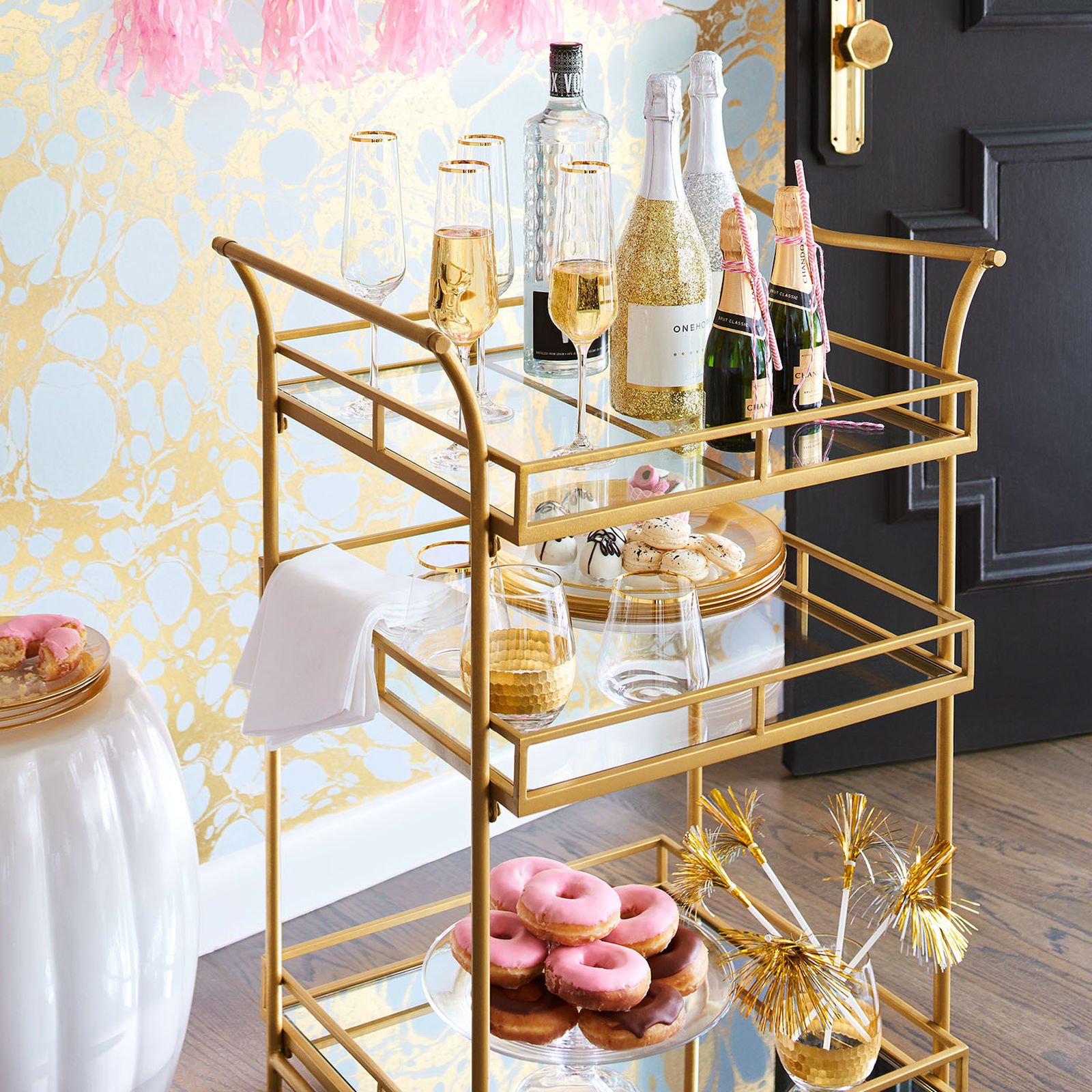 How To Style A Bar Cart Like A Pro The Fashionable Housewife