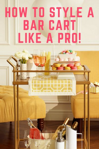 Check out these awesome tips on how to style a bar cart like a pro!