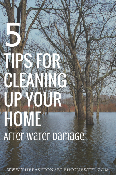 5 tips to cleaning up your home after water damage