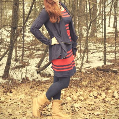 Today's Outfit: Old Navy Striped Dress & Stitch Fix Jacket