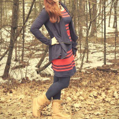 Today's Outfit: Old Navy Striped Dress & Stitch Fix Jacket