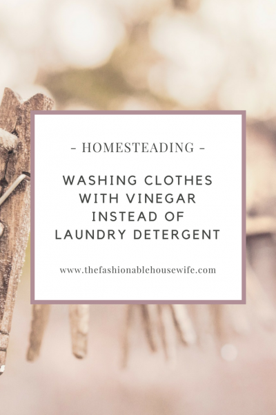 Washing Clothes With Vinegar Instead Of Detergent