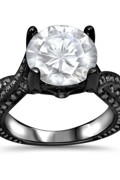 rhodium engagement ring