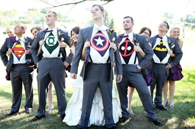 super hero wedding