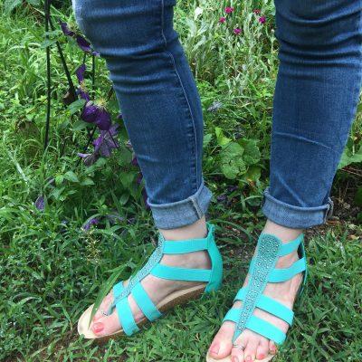 Today's Outfit: Secret Celebrity Tough Cookie Sandals