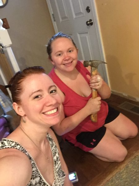 Best Friends Doing Home Renovation Project Together