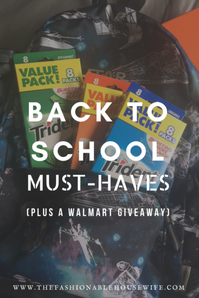 Back To School Must-Haves + A Walmart Giveaway and ibotta Offer for Trident Gum
