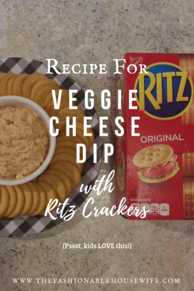 Recipe for Veggie Cheese Dip with RITZ Crackers - It's kid-friendly too!