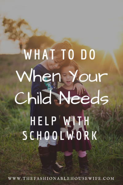 What To Do When Your Child Needs Help With School Work