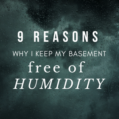 9 Reasons Why I Keep My Basement Free of Humidity